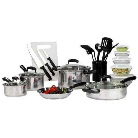 essentials basic stainless steel pc mega cookware kitchen searsoutlet