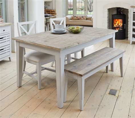signature solid wood extending dining table  seater grey