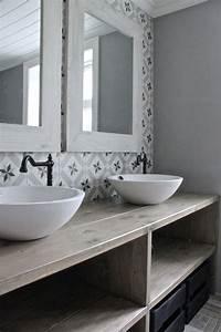 salle de bain carreau ciment salle de bain pinterest With salle de bain avec carreaux de ciment