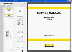 New Holland Wheel Loader W110b - Service Manual