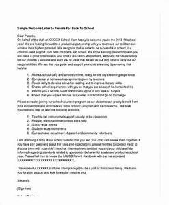 School Letter Templates
