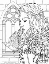Coloring Pages Fantasy Getdrawings sketch template