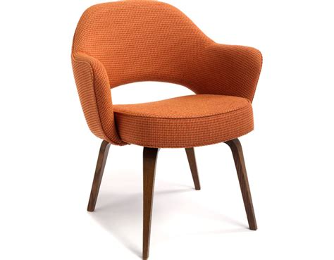arm chair dining saarinen executive arm chair with wood legs hivemodern com