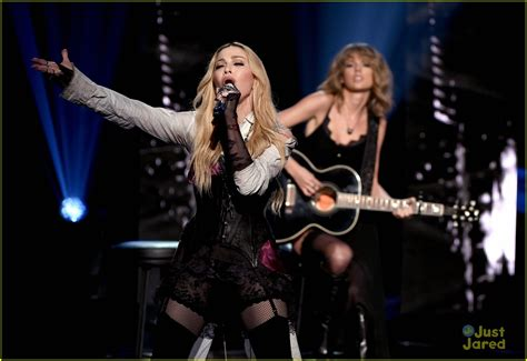 Taylor Swift Performs with Madonna at iHeartRadio Music ...