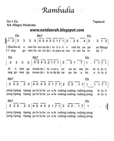 not angka pianika lagu pileuleuyan not angka lagu rambadia tapanuli not angka lagu daerah