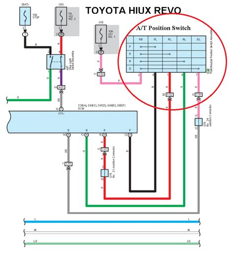 toyota hilux revo wiring engine hilux revo automatic transmission gear position switch wiring