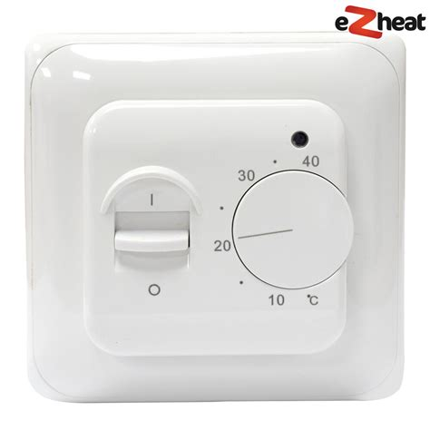 white manual thermostat for underfloor heating c w floor sensor ebay