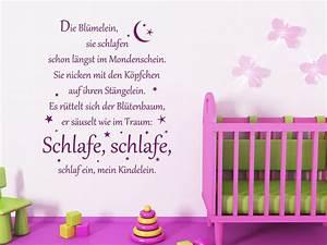 Wandtattoo Baby Mädchen : baby wandtattoo schlaf ein kinderlied von ~ Markanthonyermac.com Haus und Dekorationen