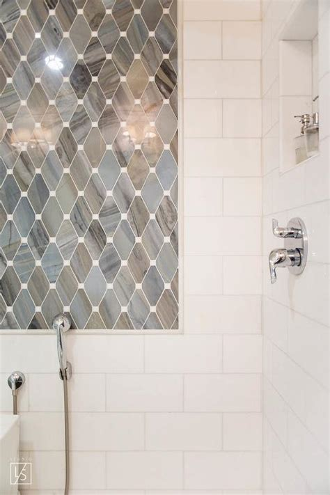 gray marble subway shower tiles design ideas