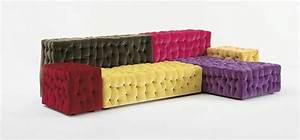 Canape design modulable et colore arkko for Canapé coloré design