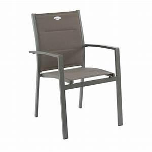 Fauteuil Salon De Jardin : fauteuil de jardin empilable azua mastic chaise et fauteuil de jardin eminza ~ Teatrodelosmanantiales.com Idées de Décoration
