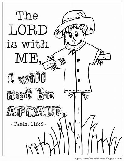 Coloring Afraid Pages Sheets Fall Bible Sunday