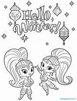 Shine Shimmer Coloring Winter Coloriage Printable Kolorowanki Sheets Dessin Colorir Hello Magical Desenhos Pintar Colorear Dzieci Dla Imprimer Paginas Colorier sketch template
