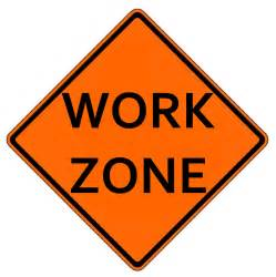 Construction Work Zone Signs