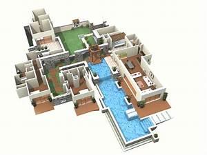 Plan Maison 3d Avec Stunning Plan De Maison De Luxe Etage