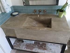 Custom concrete sink modern austin by build austin for Concrete bathroom sinks for sale