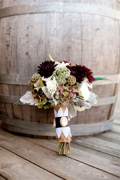 Southern Weddings Fall Bouquets Dark Vineyard Wedding