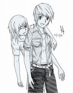 Cool Boy And Girl Sketch Friendship Sketch Drawing Boy And ...