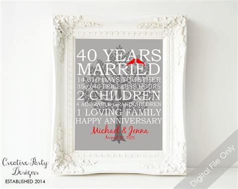 wedding anniversary gift  anniversary print