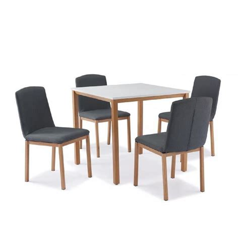 table 4 chaises table carrée 4 chaises scandinave achat vente table