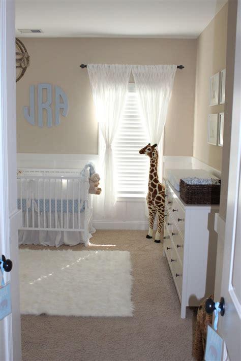 beige  white neutral nursery  baby boy project nursery