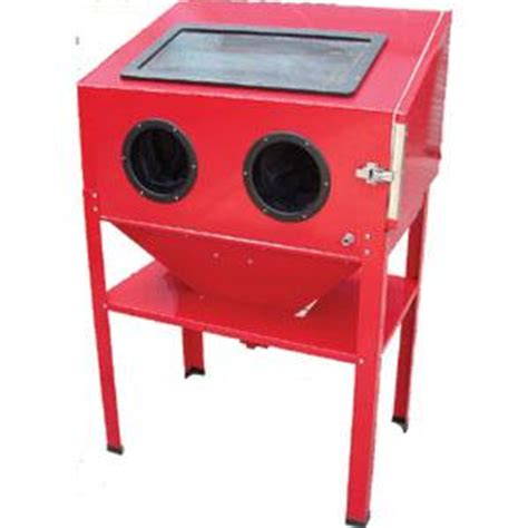 tradequip sand blasting cabinet with stand