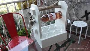 Porte Bouteille De Vin : porte bouteille vin et desserte verres en bois massif de ~ Dailycaller-alerts.com Idées de Décoration