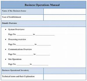 operational manual template template business With it operations manual template