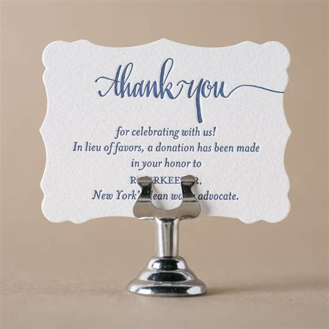 letterpress wedding favor cards  bella figura