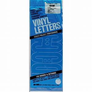 permanent adhesive vinyl letters 6quot gothic blue With vinyl adhesive letters for signs