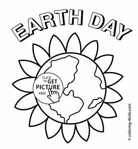 Earth Day flower coloring pages for kids, printable free ...
