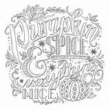 Coloring Pages Pumpkin Spice Faith Everything Nice sketch template