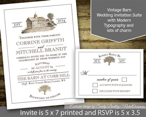 Barn Wedding Invitations : Rustic Barn Wedding Invitation Rustic Country By