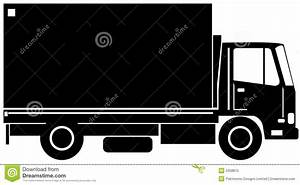 Delivery truck side view stock vector. Illustration of ...