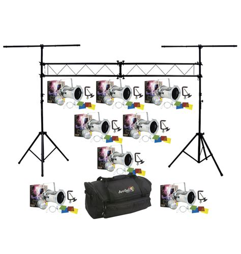 stage lighting packages american dj lighting 8 64 combo par can polished stage