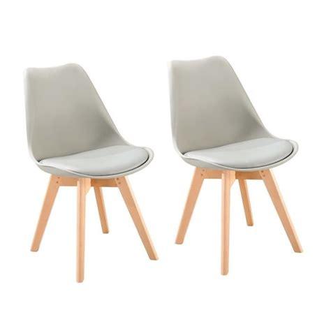 chaise salle a manger blanche chaise blanche de salle a manger 2 bjorn lot de 2