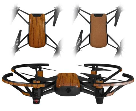 dji ryze tello drone skins wood grain oak  wraptorskinz