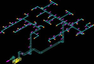 Supply Duct Isometric Diagram In Autocad