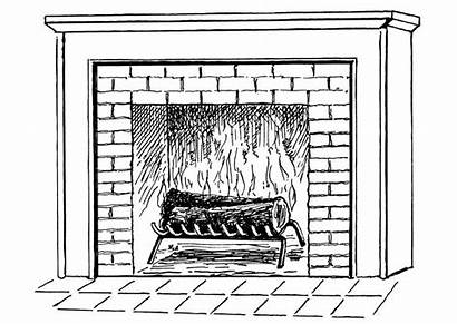 Fireplace Coloring Printable Pages Fire