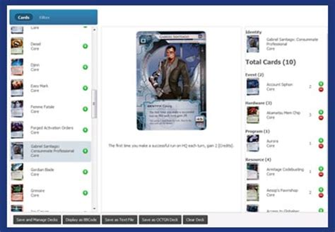 android netrunner deck builder is live android