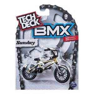 tech deck bmx finger bikes tech deck series 1 bmx finger bike yellow sunday spin