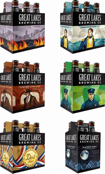 Lakes Brewing Beer Company Packaging Carriers Labels