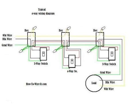 Commercial Wiring 3 Way Switch Schematic by Wiring A 4 Way Switch
