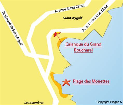 Situer Aygulf Carte by Calanque Du Grand Boucharel Aygulf 83 Var Paca