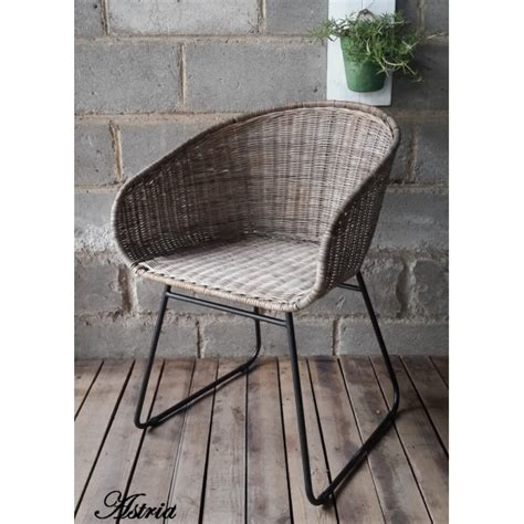 siege en rotin chaise rotin scandinave astrid