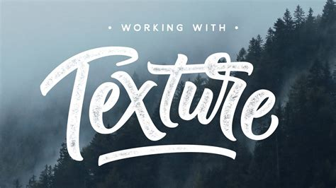 add texture  lettering photoshop tutorial youtube
