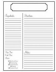 full page recipe template for word - 7 best images of printable blank recipe templates free