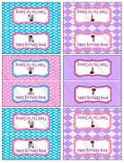 Disney Doc McStuffins Birthday Party by KrittsKreations  Mcstuffins      Doc Mcstuffins Printable Stickers