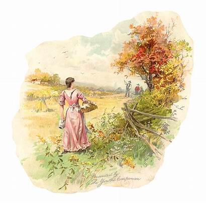 Countryside Clip Clipart Digital Farmers Country Victorian