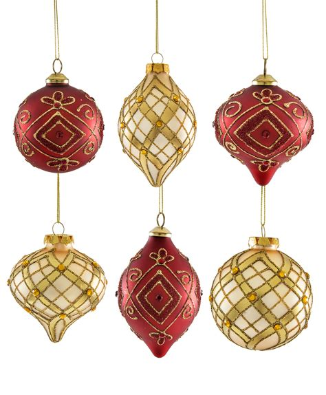 red and gold teardrop ornaments tree classics
